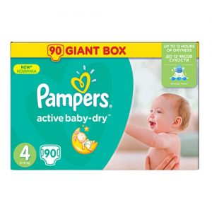 Pampers pelene New Active baby-dry 4 90/1